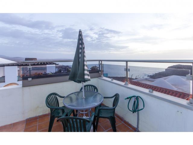 Sun terrace and view - Ocean Vista Apartment, El Cotillo, Fuerteventura
